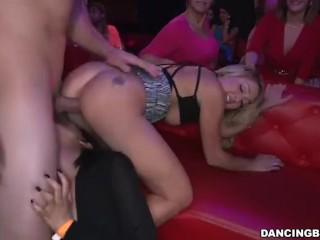 Hot amateur threesome on web cam show